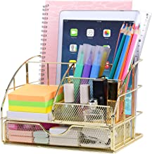 Upgraded Desk Organizer for Women, Cute Mesh Office Supplies Accessories Essentials Caddy with Drawer for Home & Office De...