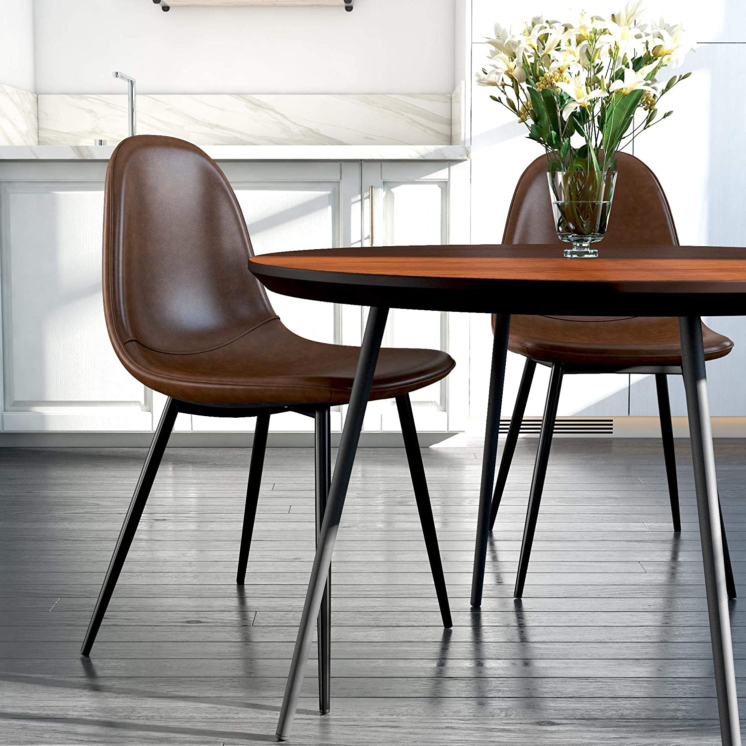 Best for Forms: DHP Casi Upholstered Dining Chair.