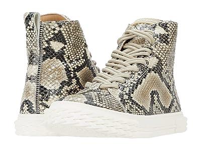 Giuseppe Zanotti Blabber Printed Snake High-Top Sneaker (Roccia) Men
