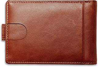 Handmade Mens Wallets Credit Card Holder 7 Slots, Real Leather Slim RFID Blocking, Minimalist Bifold with ID Window, Durab...