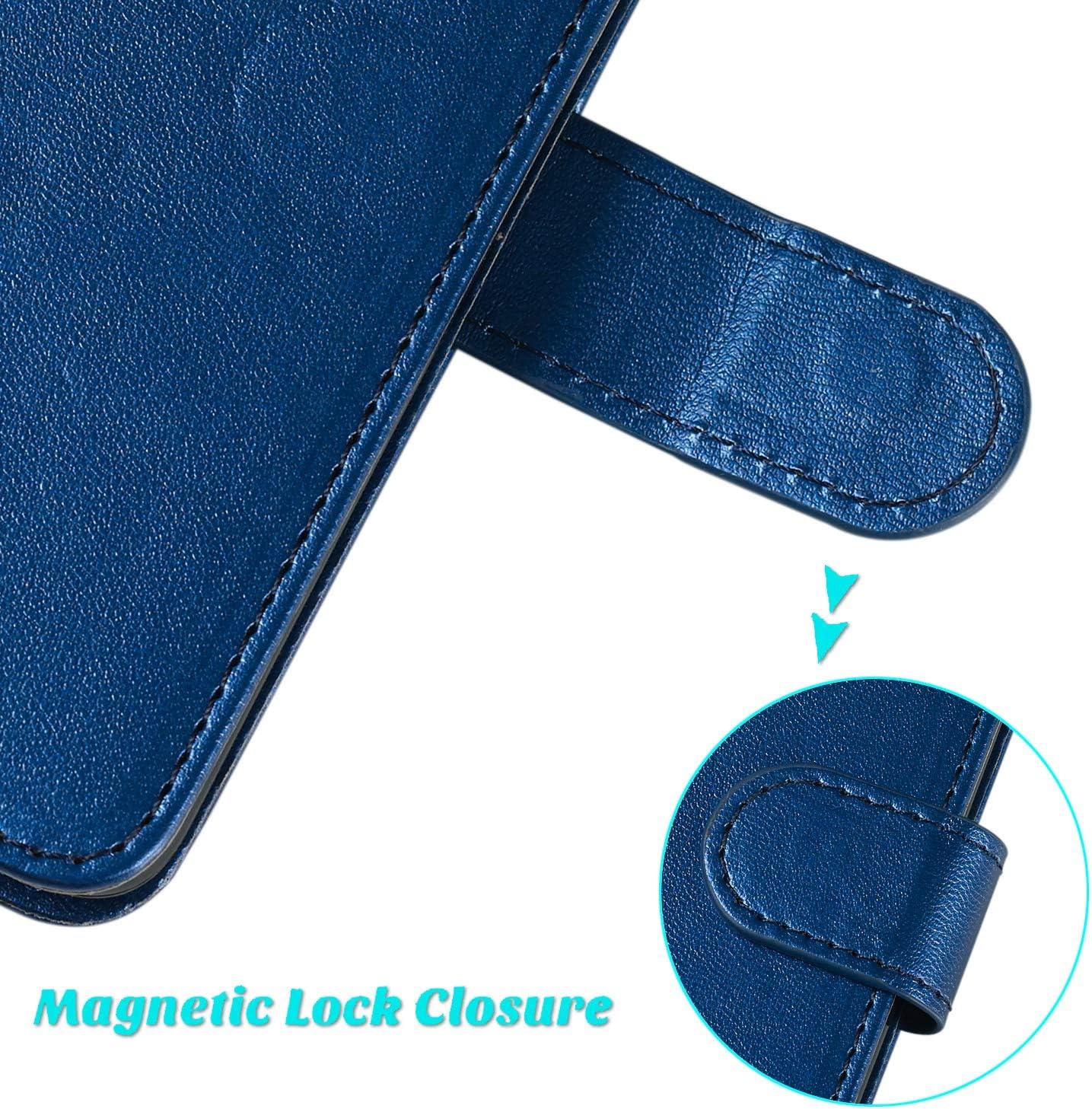 Lomogo Huawei P30 Pro Case Leather Wallet Case with Kickstand Card Holder Shockproof Flip Case Cover for Huawei P30Pro LOYHU250364 L4