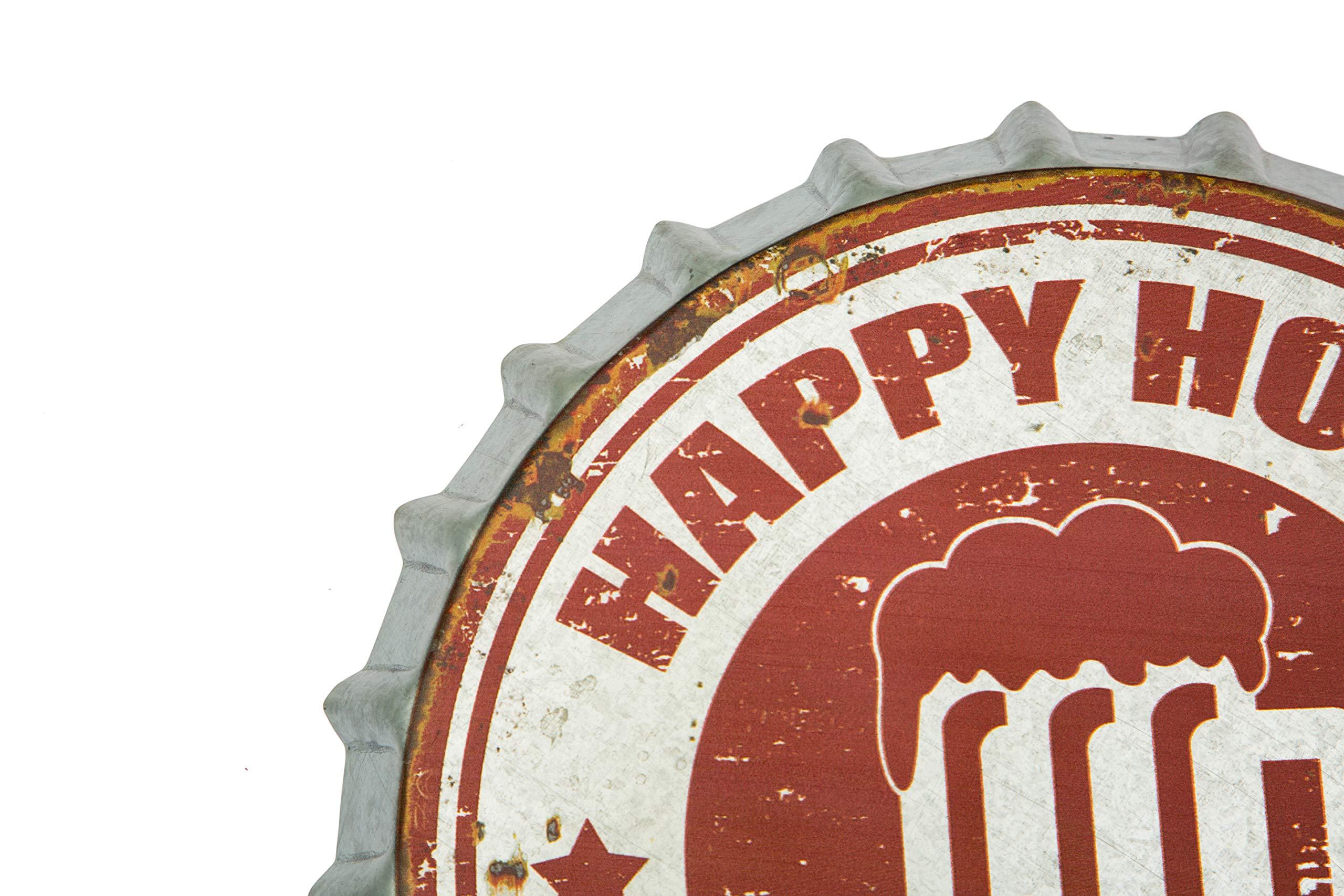 by 66RETRO... decorazione da parete diametro 40/cm con targa in metallo tappo bottiglia di birra in metallo Harley Davidson Genuine Motor oil