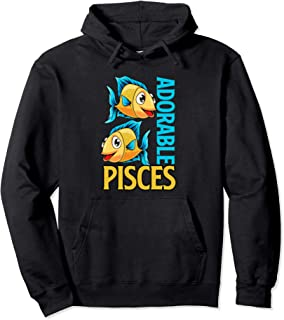 Funny Pisces Design, Astrology Horoscope Pisces Fish Gifts  Pullover Hoodie