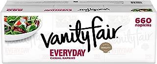 Vanity Fair Everyday Napkins, 660 Count, White Paper Napkins