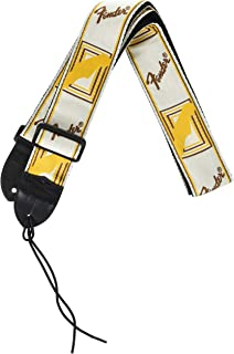 Best Fender 2 Inch Monogrammed Strap, White/brown/yellow Electric Guitar Strap Review