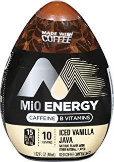 MiO Energy Vanilla Java Iced Coffee Concentrate, 1.62 oz Bottles (Case of 12)