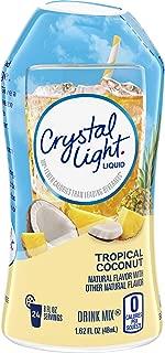 Crystal Light Sugar Free Tropical Coconut Liquid Drink Mix, Caffeine Free, 1.62 fl oz Bottle
