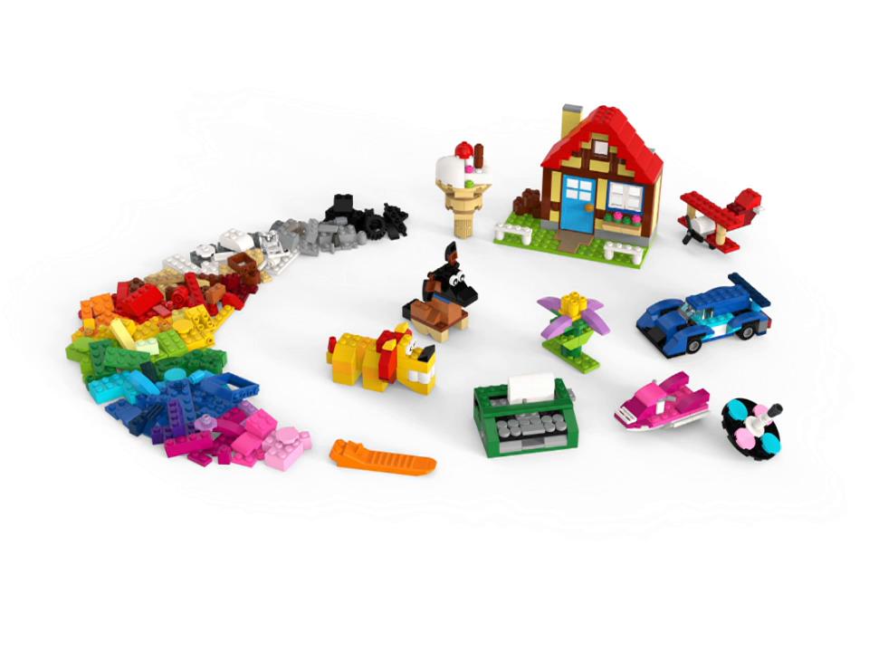 LEGO Classic - Diversión Creativa, Juguete Creativo con Piezas de Construcción para Niños y Niñas de más de 4 Años con Ladrillos y Elementos como Ruedas y Ventanas (11005): Amazon.es: Juguetes y juegos
