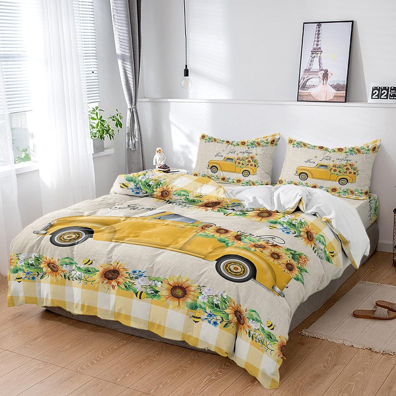 ZL Home 4 Piece Bed Sets Cove Sunflower Duvet Garden Bee 25% OFF Jacksonville Mall Animal