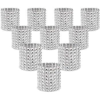 10x Diamante Napkin Ring Serviette Holder Wedding Banquet Dinner Home Hot Sale