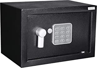 Home and Office Electronic Safe Box with Keypad & Keys, Money Lock Boxes, Safety Boxes for Home, Office, Hotel Rooms,Busin...