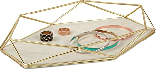 Umbra Prisma Tray, Geometric Plated Jewelry Storage, 11