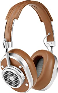 Master & Dynamic MH40 Wireless Over Ear Headphones - Silver Metal/Brown Coated Canvas