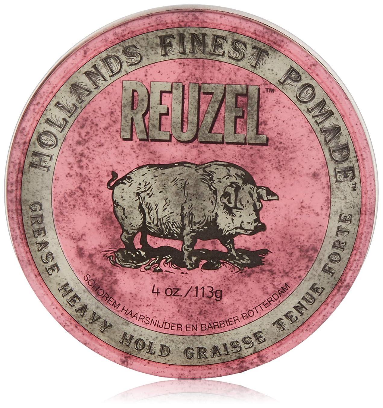 オートマトンふつうワンダーReuzel Pink Grease Heavy Hold Pomade 4 oz/113g