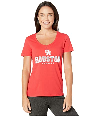 Champion College Houston Cougars University V-Neck Tee (Scarlet 2) Women