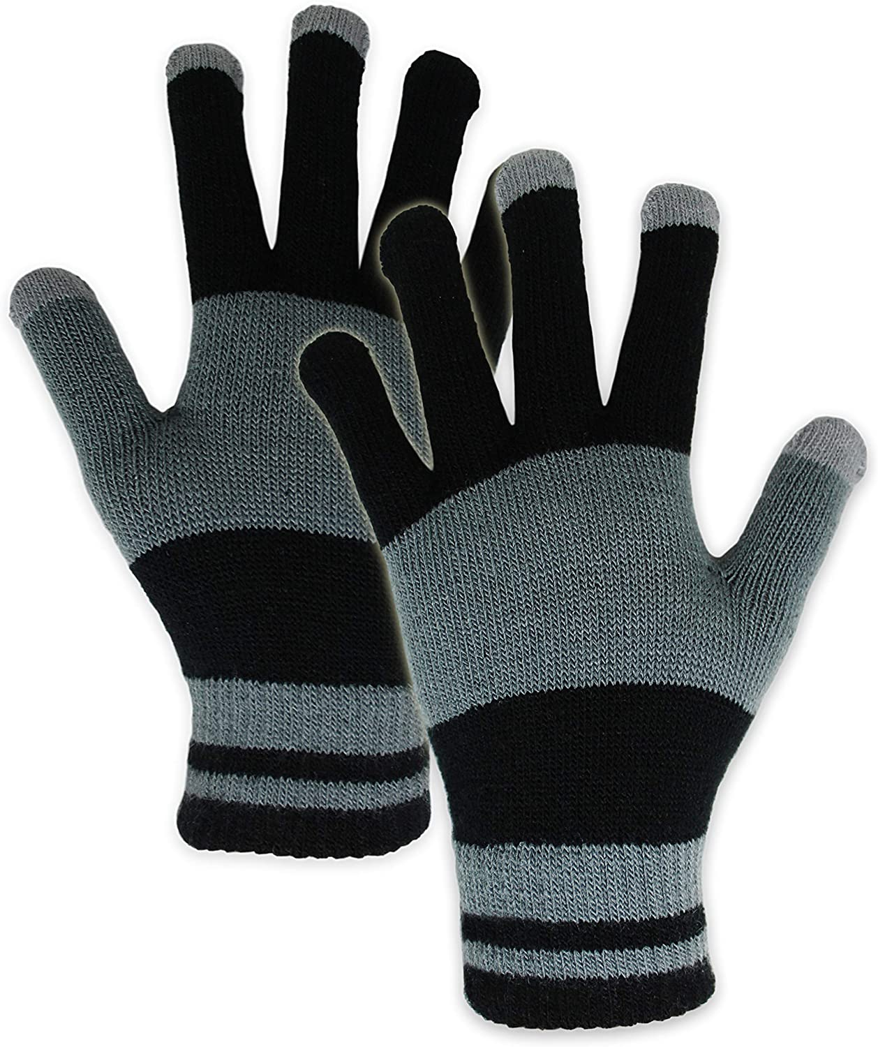 Touch Screen Winter Knit Gloves - Lightweight & Warm Thermal Magic Tech Gloves for Texting, Running, Driving, Cycling