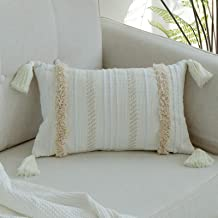 blue page Woven Tufted Tassel Throw Pillow Covers Fringe Sofa Couch Cushion Cover Decorative Square Cotton Pillows Cover O...