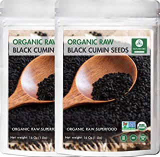 Organic Black Cumin Seed Whole, Nigella Sativa 2lb (Pack of 2 of 1lbs each) by Naturevibe Botanicals, Gluten-Free & Non-GMO