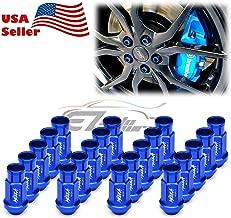 EZAUTOWRAP Blue 20 PCS M12x1.5 Lug Nuts Short 50mm Tuner Open End Aluminum Wheels Rims Cap WN01