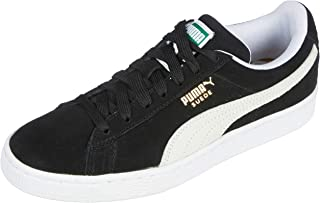 PUMA Adult's Suede Classic+ Trainers, Black (Black-White)