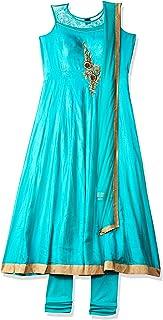 SOCH Women's art silk anarkali Salwar Suit Set NC CD 1600-TEAL-GOLD_Teal_X-Large