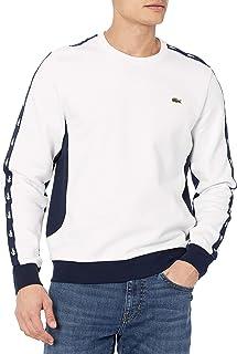 Men's Long Sleeve Colorblock Logo Tape Crewneck Sweatshirt