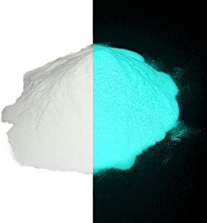 Aqua Super Phosphorescent Glow in The Dark Powder Pigment 1/2 Ounce (15g) - No UV Light Needed