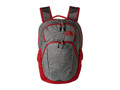 The North Face Pivoter Backpack (TNF Dark Grey Heather/Cardinal Red) Backpack Bags