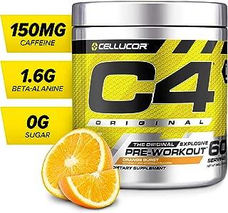 C4 Original Pre Workout Powder Orange Burst | Sugar Free Preworkout Energy Supplement for Men & Women | 150mg Caffeine + Beta Alanine + Creatine | 60 Servings