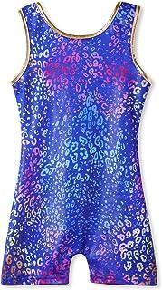 Gymnastics Leotards for Girls with Shorts Sparkly Unicorn Mermaid Toddler Ballet Dance Biketards Blue Purple