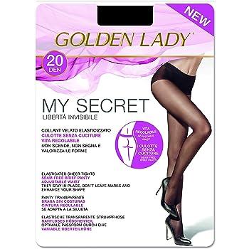 GOLDEN LADY Mysecret 20 Collant, 20 DEN, Nero (Nero 099A), Medium (Taglia Produttore:3–M) Donna