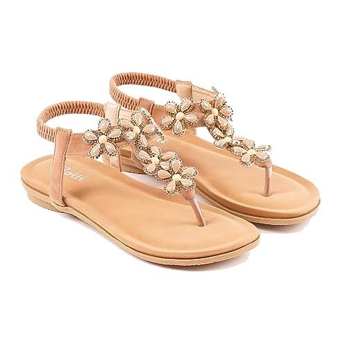 b3b71760f Roiii Womens Ladies Diamante Jelly Sandals Summer Beach FLIP Flops Toe Post  Shoes Size