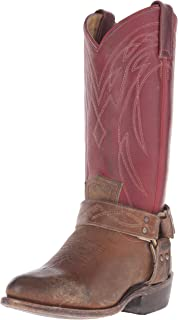 FRYE Women's Billy Harness -SFGSPU Western Boot, Burgundy/Multi, 6. 5 M US