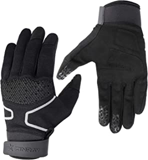 ZINRAY Racing Mountain Bike Bicycle Cycling Off-Road Gloves (Full Finger) Road Racing Motorcycle Motocross Sports Gloves Touch RecognitionGloves for Men Ladies
