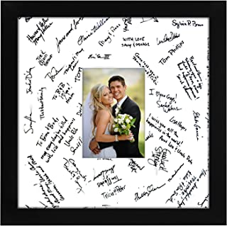 Americanflat 14x14 Wedding Signature Picture Frame, Black