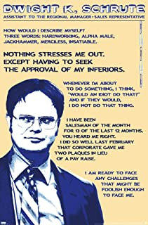 """Trends International Office-Dwight Schrute-Quotes Wall Poster, 22.375"""" x 34"""", Unframed Version"""