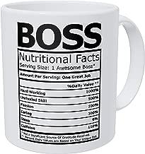 Wampumtuk Boss Nutritional Facts Funny Coffee Mug 11 Ounces Inspirational And Motivational