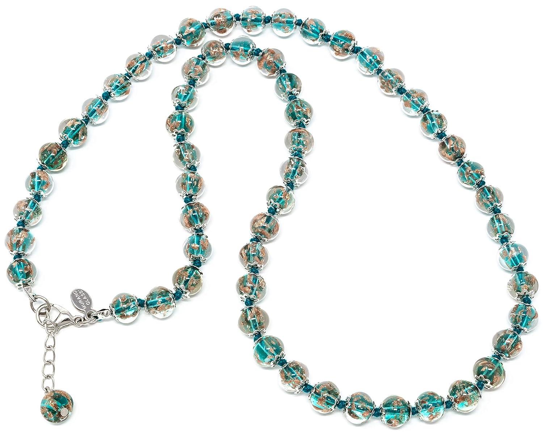 Original Murano Glass Necklace Avventurine Handmade OFFicial mail order Ita Style In mart