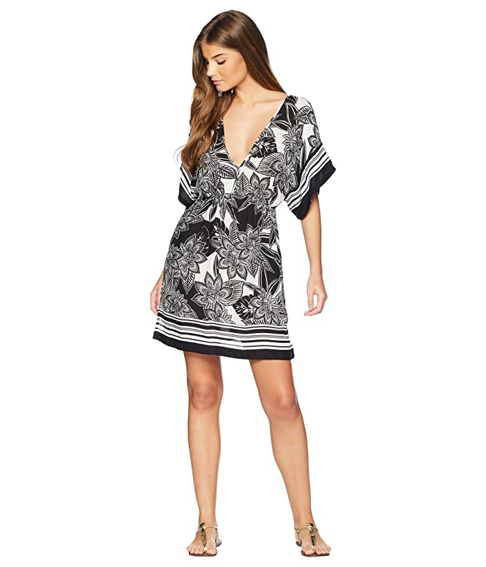 caab9ab0df273 LAUREN Ralph Lauren Graphic Floral Printed Tunic Cover-Up at Zappos.com