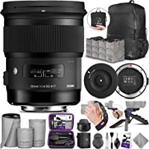 Sigma 50mm F1.4 Art DG HSM Lens for Canon DSLR Cameras + Sigma USB Dock with Altura Photo Essential Accessory and Travel Bundle
