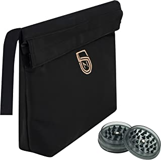 Large Smell Proof Bag + BONUS Herb Grinder + Padded Pocket for Glass Accessories   Guard Your Stash and Keep Odor Out   Discreet Storage Pouch For All Your Smelly Needs   (12x9x2.5