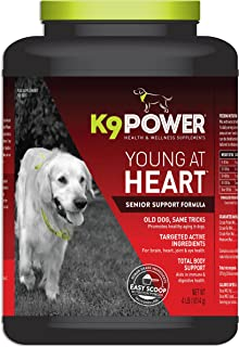 K9 Power Young at Heart - Nutritional Support Formula for Senior Dogs - 4 Pound