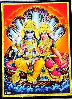 Yapree Handmade Lord Vishnu Goddess Laxmi Picture Wall Hanging : 7