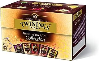Twinings Flavoured Black Tea Selection aromatisierter Schwarztee mit Frucht, Blackcurrant, Vanilla, Four Red Fruits, Apple, Cinnamon & Raisin, Lemon  Black Tea 8er Pack 8 x 40 g
