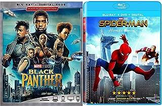 SpiderBlack Marvel Studios Amazing Spider-Man Bundle: Homecoming (Blu-ray/ Digital) Avengers Black Panther Superhero movies SET