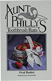 Aunt Philly's Toothbrush Quilts AP106 Oval Basket Toothbrush Rug