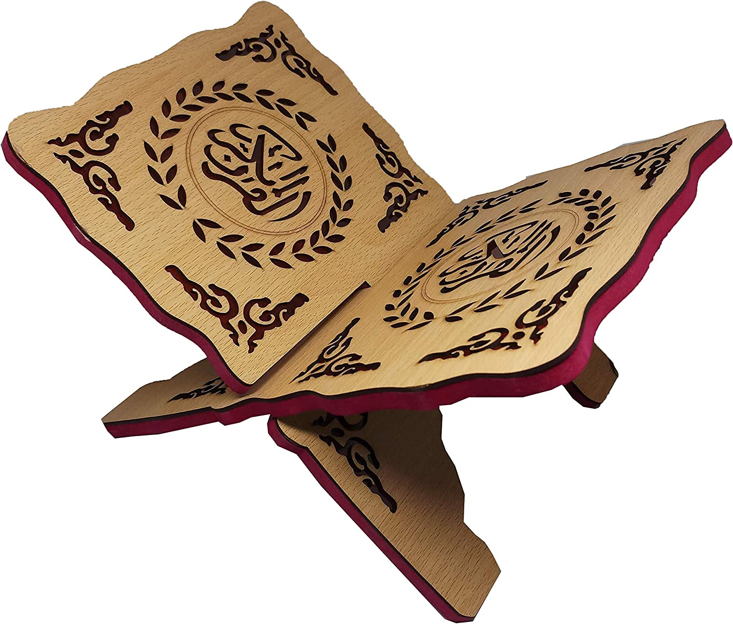 Wooden sale Book Stand Al-Quran Rihal Direct store AMN-208 Carving Chant Scripture