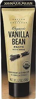 Taylor & Colledge Paste Tube, Organic Vanilla, Vanilla Bean, 1.7 Oz