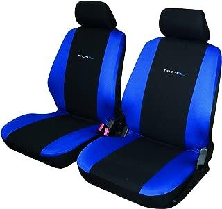 Zakschneider Fundas De Asiento para C15 Color Premium Negro Efecto 3D Azul Fundas Delanteras Visa