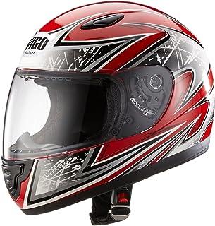 Protectwear SA03 RT S Kinder Motorradhelm, Integralhelm, Größe S (Youth XL), Rot/Silber